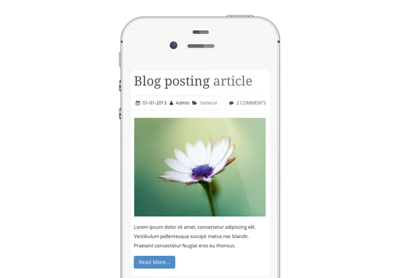 Mobile App Theme blog