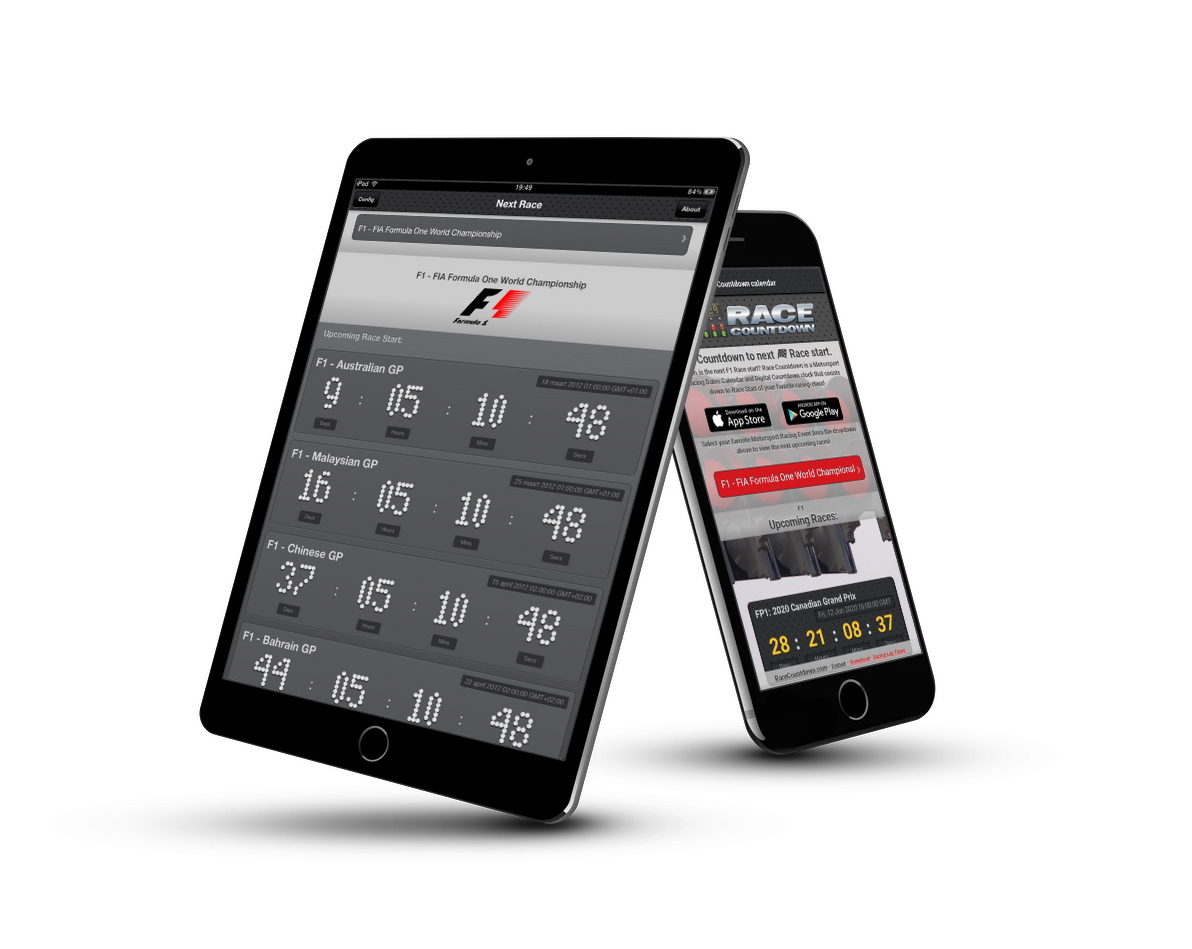 Motorsport Racing Calendar Countdown