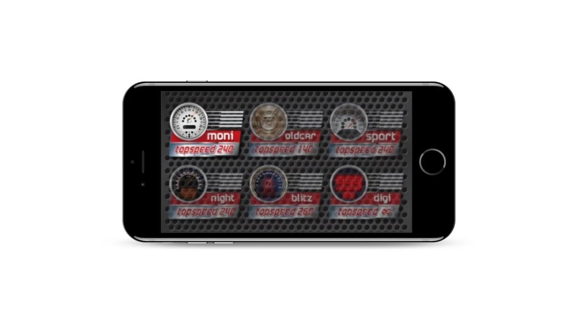 Speedometer GPS dashboard themes