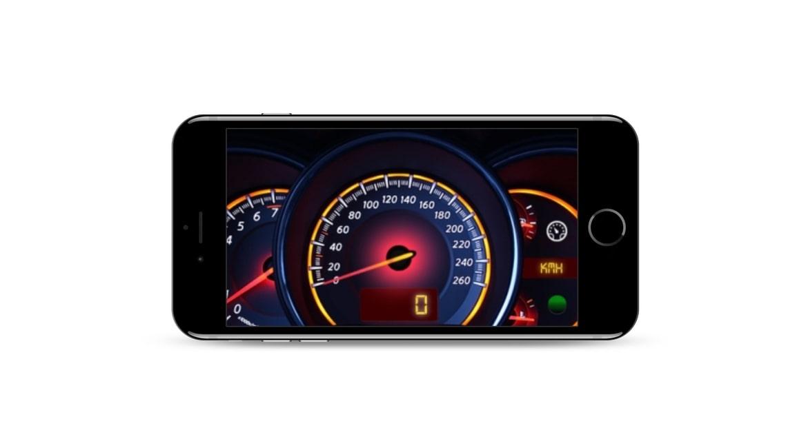 Speedometer GPS dashboard
