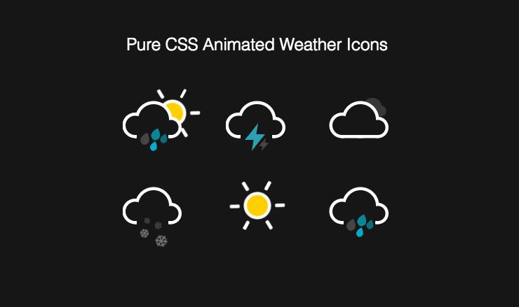 CSS Weather icons