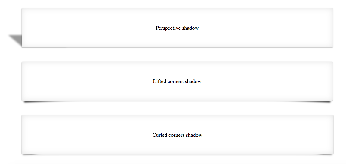 CSS perspective shadow